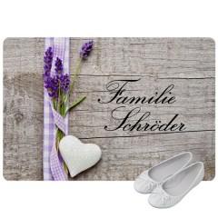 Fußmatte im Landhaus-Stil mit Familiennamen