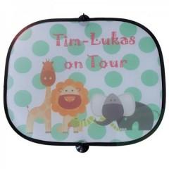 personalisierter Kinder-Sonnenschutz für Autofenster
