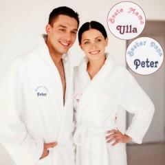 Set mit zwei Bademänteln - Beste Mama und Bester Papa