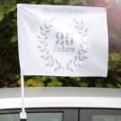personalisierte Autofahne zur Silberhochzeit