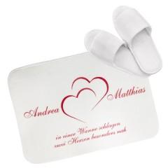 Vorleger für das Badezimmer mit Herzmotiv