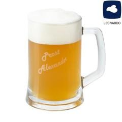 praktisches Bierseidel mit Gravur