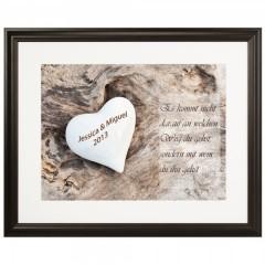 Herzbild für Eheleute oder Verlobte