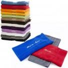 besticktes Handtuch in vielen verschiedenen Farben