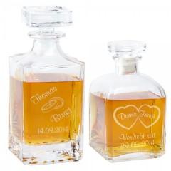 Whiskykaraffe aus Glas für Verliebte