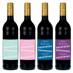 Weinflasche mit individualisierbarem Etikett