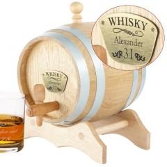 personalisiertes Whiskyfass aus Holz