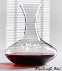 personalisierter Weindekanter für Weinliebhaber