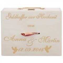 Geldkoffer aus Holz zur Hochzeit