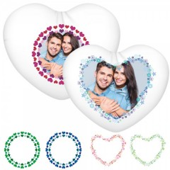 Kissen in Herzform mit individuellem Foto