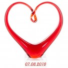 rote Skulptur aus Gals in Herzform