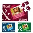 romantisches Puzzle mit individuellem Bild, Namen und Widmung