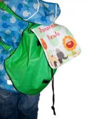 Kinder-Rucksack mit Wunschnamen und süßen Tieren