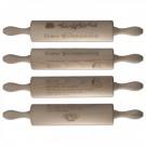Nudelholz mit graviertem Vanillekipferl-Rezept