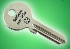 echter Schlüssel als Schlüssel zum Glück