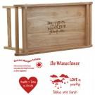 Betttablett aus Holz mit ausklappbaren Füen