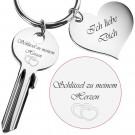 Schlüssel zu meinem Herzen - goldener / silberner Schlüssel
