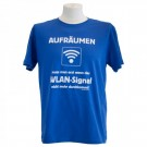 witziges T-Shirt - Aufräumen, wenn das WLAN nicht mehr durchkommt