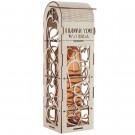 romantische Flaschenverpackung aus Holz