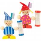 Holzfiguren mit Zahnputzuhr - Matrose oder Sandmann