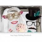 ausklappbarer Bilderrahmen mit Hochzeits-Requisiten