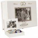 Hochzeitsbox mit Rahmen für ein romantisches Foto