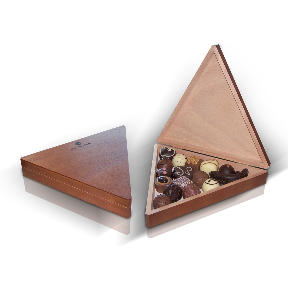 pralinen set chocotriangle als gute geschenkidee bei givester. Black Bedroom Furniture Sets. Home Design Ideas
