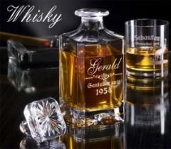 Personalisierbare Whiskykaraffe mit Gravur