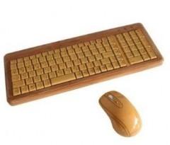 Tastatur und Maus aus Bambus ...